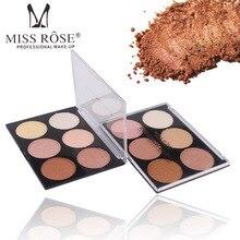 Miss Rose Good Pigmentation Baked 6 Color Blusher Makeup Palette Glow Kit Blush Makeup for Women Cosmetic