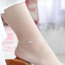 TJP Cute Cat Silver Women Bracelets Jewelry 3D Girl Lady Party Accessories Trendy 925 Anklets For Princess Bijou