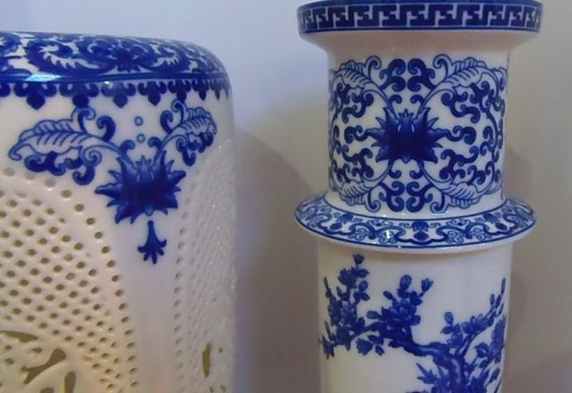 Prekrasan kineski porculan 2 postavljen dvostruko šuplje rezbarene - Kućni dekor - Foto 6