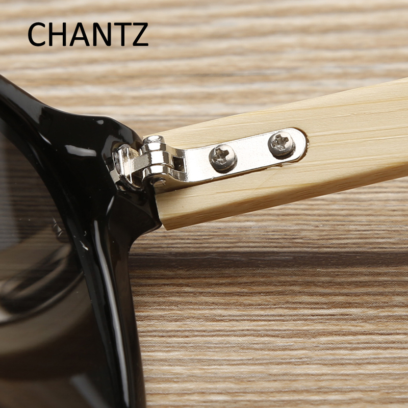 2016 nya vintage trä solglasögon kvinnor män naturliga bambu - Kläder tillbehör - Foto 5