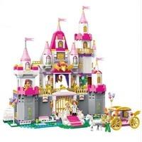 940pcs Girl's Dream Town Constructor Model Kit Blocks Compatible With Sermoido Bricks Toys For Boys Girls Children