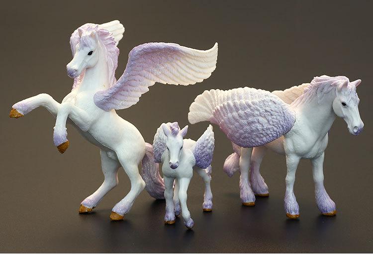 pvc  figure   toy  gift  Simulation Fantasy Animal Model Set Toy Tianma Pegasus 3pcs/set pvc figure assembly simulation animal model dinosaur tiger elephant horse sheep kitten puppy model 25pcs set