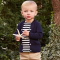Brand 2017Latest child boy clothes child kid baby boy spring sweater pullover long sleeve jersey striped patchwork sailor collar