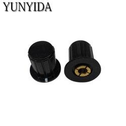 5 шт., черная ручка потенциометра (медный сердечник), бесплатная доставка, 4 мм