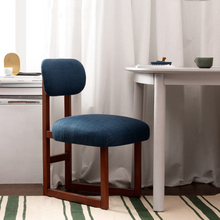Nordic Solid Wood Minimalist Soft Chair Restaurant Office Leisure Coffee Shop Bedroom Study Modern Comfortable Back