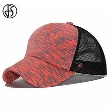 75ad606da80553 FS Fashion Streetwear Summer Breathable Striped Mesh Trucker Cap Women Men  Casquettes Snapback Hat Ladies Face