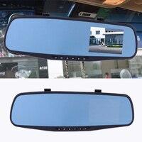beler 3.5 HD 1080P Car 12V DVR Rear View Mirror Video Recorder Multi Language Dual Cam Reversing Camera