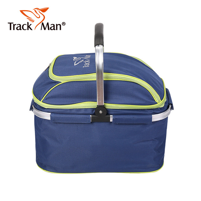 Trackman large capacity camping picnic bag Lunch Box Drink Food Insulated Thermal Snack food box Tote Portable Tote