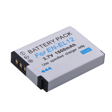 1Pc ENEL12 EN-EL12 Battery for Nikon Coolpix A900 AW130 AW120 S9900 S9500 W300 S9700 S9600 S6000 S8200 AW110 S9100 S9400 Camera