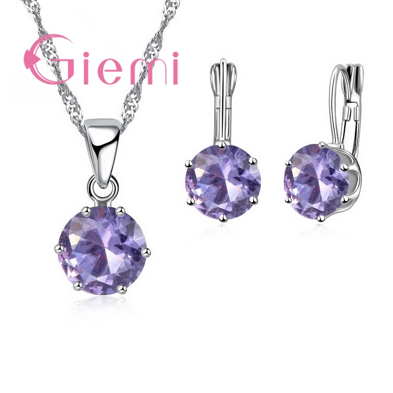 Giemi New Fashion Mewah Perhiasan CZ Set 925 Sterling Silver Earring - Perhiasan fashion - Foto 5