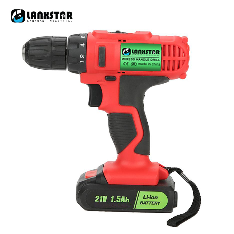 Multi-function rechargeable 21V maximum electric screwdriver cordless drill mini wireless power driver lithium battery 2 speed