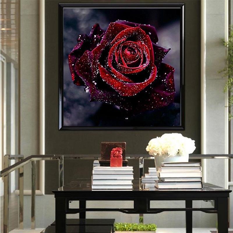 Teemantide tikandid 5D lille teemantide ristpistes kristalliga - Kunst, käsitöö ja õmblemine - Foto 4