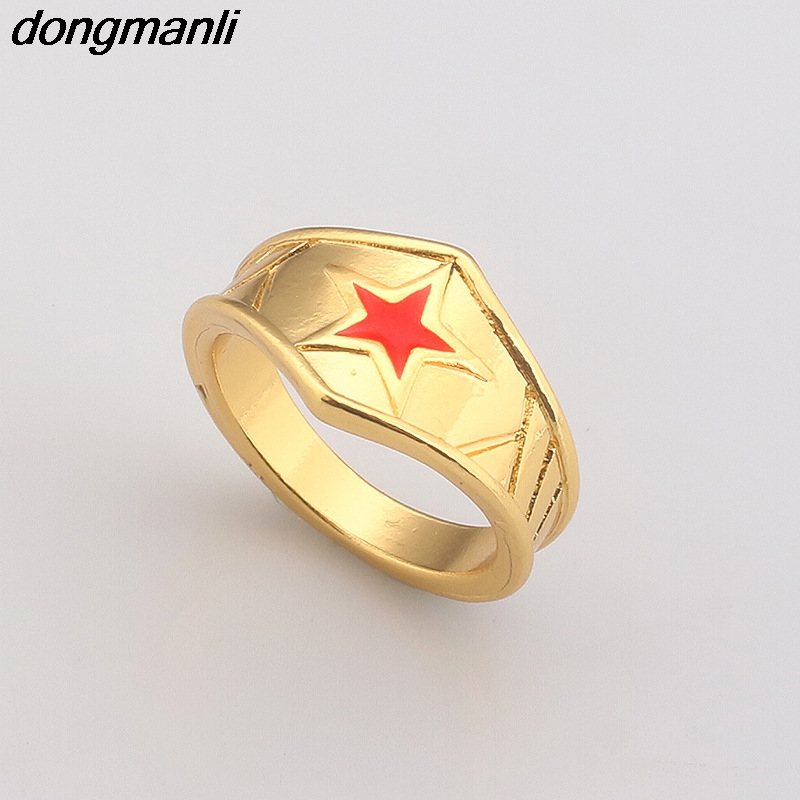 P563 dongmanli Tiara Super Hero Wonder Woman Geek Engagement Ring Size (18mm)
