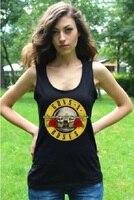 GUNS N ROSES Women Tank Top Vest Fashion Black Ladies SleevelessTee Shirt Rock Band Cotton Printed