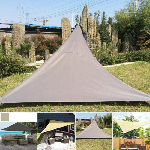 95e22444f382 Triangle 3x3x3m Waterproof Sun Shelter Sunshade Protection Outdoor Canopy  Garden Patio Pool Shade Sail Awning Camping Tent 2019