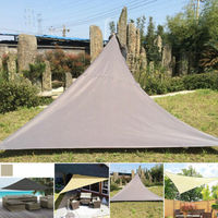 Triangle 3x3x3m Waterproof Sun Shelter Sunshade Protection Outdoor Canopy Garden Patio Pool Shade Sail Awning Camping Tent 2019
