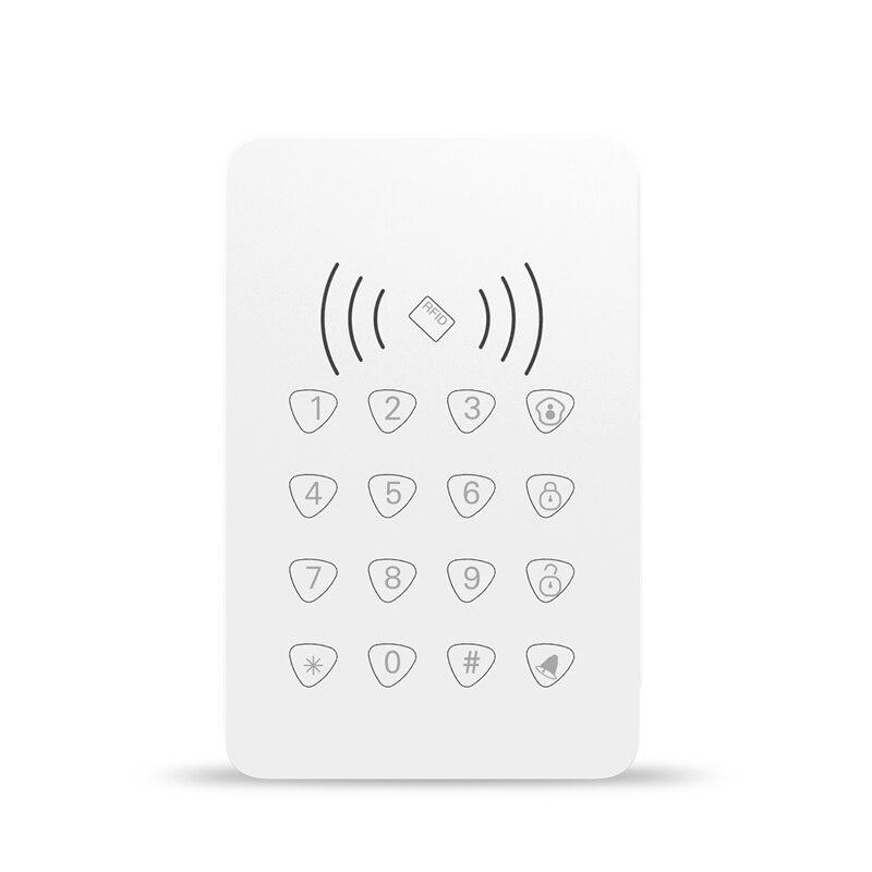 433 мГц RFID сенсорной клавиатурой с функцией RFID/дверной Звонок функция для беспроводной Wi-Fi gsm сигнализация постановки/снятия сенсорной клави...