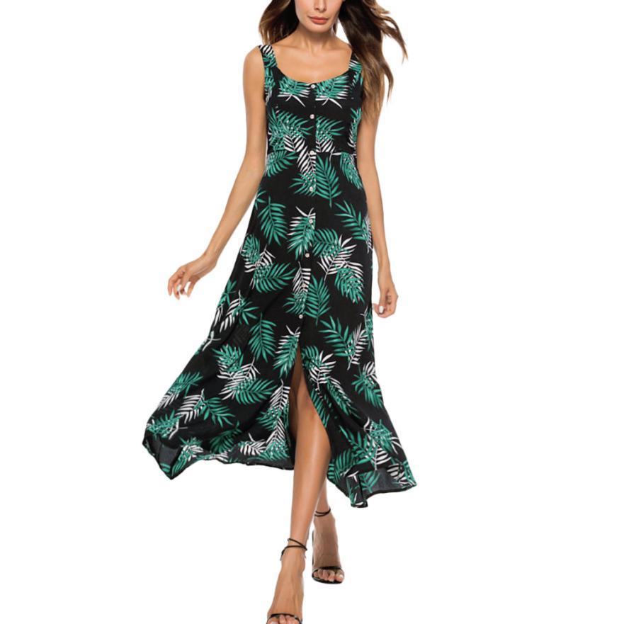 2018 Casual Striped Button Sexy Casual Summer Strap Dress Long Boho Beach Pockets Women Sundress Vestidos Elegant Daily Dess Fem