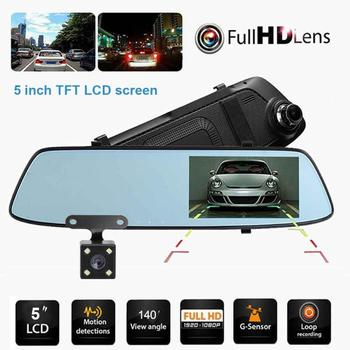 Anytek T33 5.0in IPS Touch Screen Dual Lens Car DVR Camera Video Recorder ADAS ESI Anti-shaking Car DVR Dash Camera