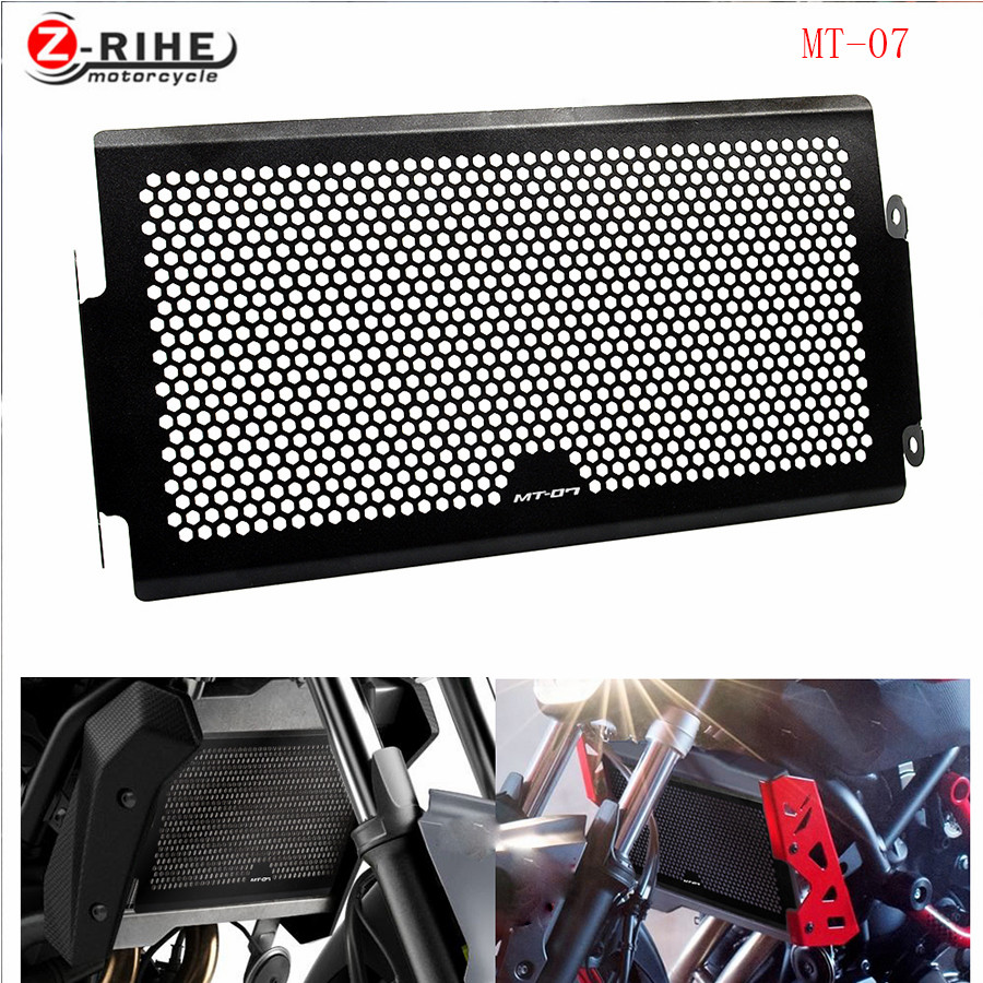 FOR 2017 New Black Motorcycle Radiator Grille Guard Cover Protector For YAMAHA MT07 MT-07 mt 07 2014 2015 2016 XSR700 FZ 07 2017 new black motorcycle radiator grille guard cover protector for yamaha mt07 mt 07 mt 07 2014 2015 2016 free shipping