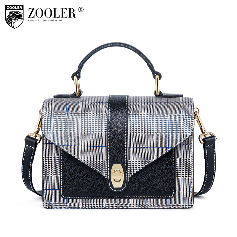 Top fashion!2018 hottest ZOOLER woman messenger bags genuine leather bag patchwork cross body bolsa feminina#B226 top 2018 zooler woman shoulder messenger bags cross body genuine leather bag chain elegant small bag bolsa feminina w116