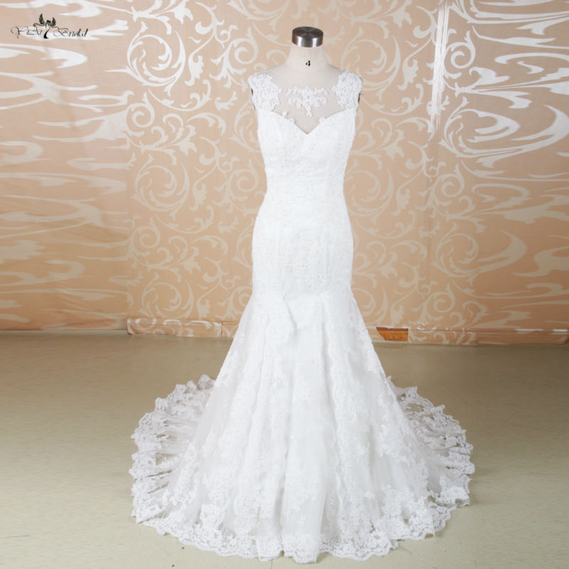 Rsw572 mermaid vintage lace backless wedding dresses in for Wedding dresses less than 300