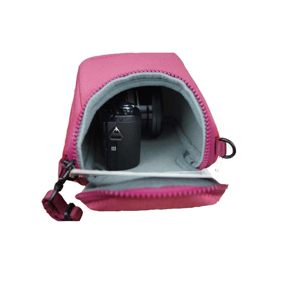 Su geçirmez Kamera Yumuşak Çanta Durumda Sony A5100 A5000 A6000 A6300 H400 H300 HX90 HX60 HX50 RX100 V RX100M4 NEX3 NEX3N NEX5 NEX6