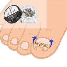 Инструмент для ухода за ногами из нержавеющей стали 6 шт. коррекция вросших пальцев ног Педикюр проволочный фиксатор инструмент для восстановления параониксии коррекция ногтей