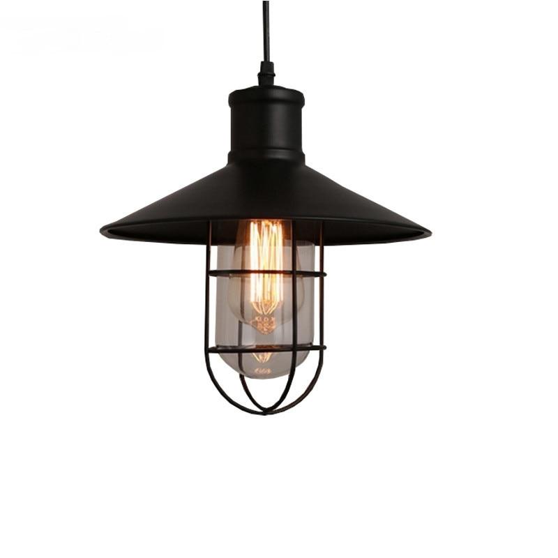 Model Metal pendant Lamp Edison Bulb Black Suspension Light For study room simple Home lighting Pendant Light|Pendant Lights| |  - title=