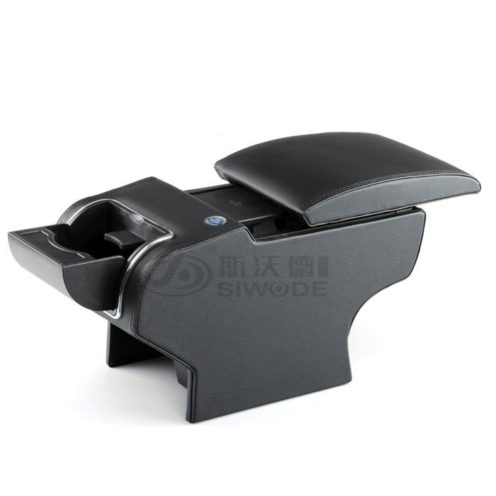 free punch for Peugeot 307 car armrest box 9 function with USB hidden cup seat no drilling central box free punch new lova car armrest box wooden car central console hand box with usb can chargeable