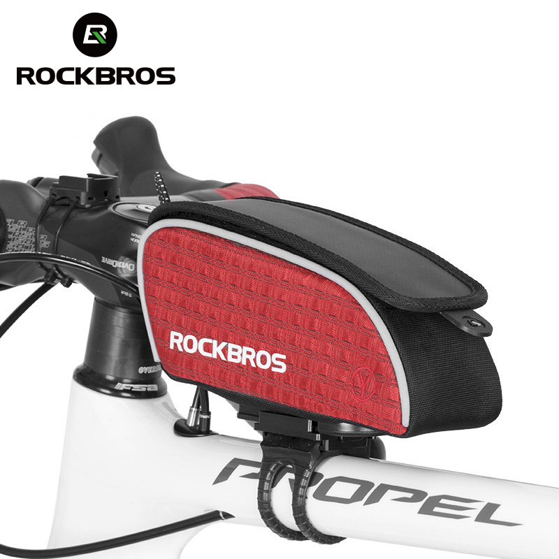 ROCKBROS Top Front Tube Frame Bag MTB Road Bike Bags Bicycle Accessories Bisiklet aksesuar Bicycle Saddle Cycling Bag 2017 New coolchange waterproof bike bag frame front head top tube cycling bag double ipouch 6 2 inch touch screen bicycle bag accessories