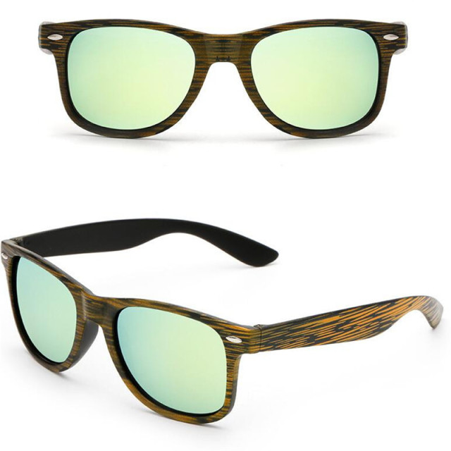 Color Film Sunglasses Vintage Wood Grain Sun Glasses Men Women Rice nail grain Retro Sunglass Famous Brand Designer