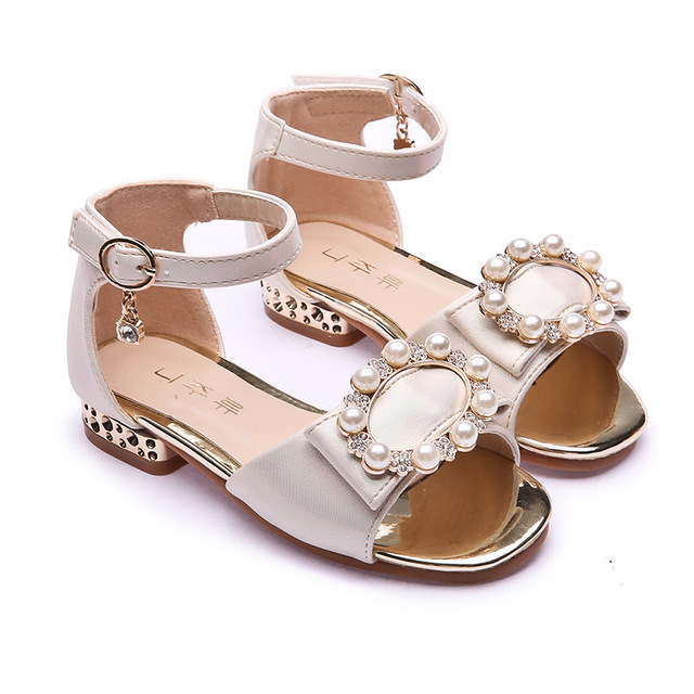 9fd58f0af913 ULKNN Girls sandals 2019 summer new version big children open toe shoes  size 26-37 rhinestone casual fashion princess shoes