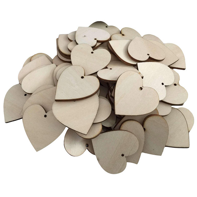 aliexpress com buy 25pcs love hearts shape wooden crafts with