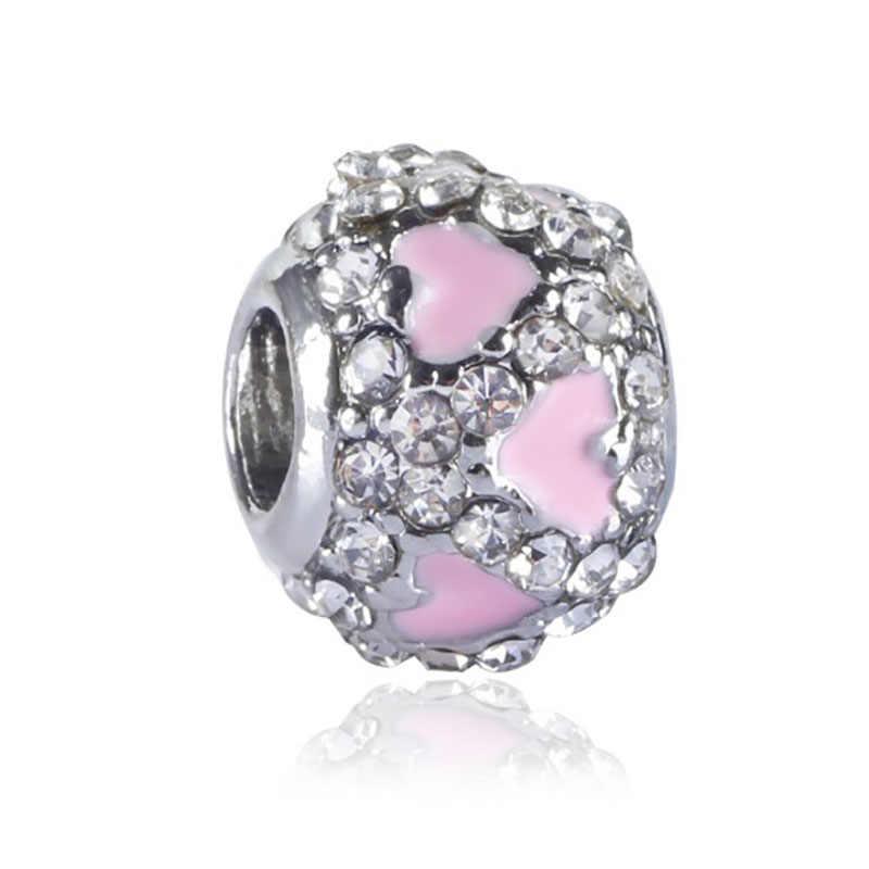 Abalorios de corazón compatibles con Pandora, joyería de joyería Bijoux, bisutería francesa, Perfumes de plata para Mujer, pulseras Originales, dijes