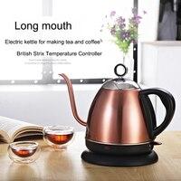 Gooseneck Kettle Electric Kettle Adjustable Temperature Insulation Stainless Steel Drip Coffee Tea Eu Teapot