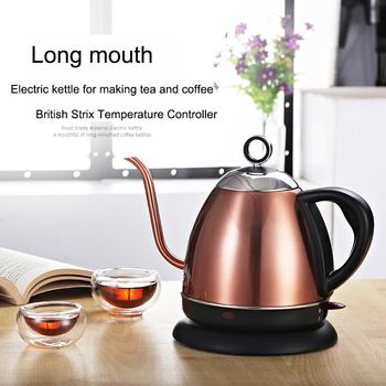 Gooseneck Kettle Electric Kettle Adjustable Temperature Insulation Stainless Steel Drip Coffee Tea Eu Teapot цена 2017