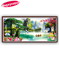 2015 5D Diamond Embroidery Diamond Mosaic Scenic Pictures 3D Diy Diamond Painting Needlework Wall Pictures For
