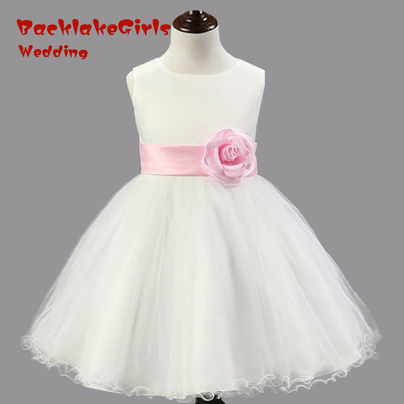 Hot Sale 2018 Elegant YIYI   Flower     Girl     Dresses   Bow   Flowers   Sashes Long Princess Party Pageant first communion   dresses   FD021
