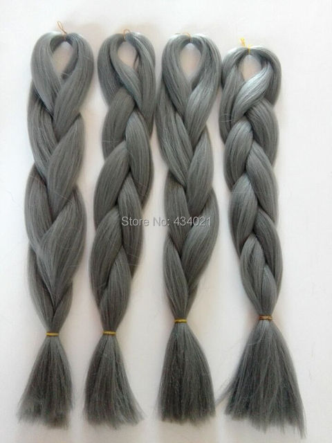 Xpression Kanekalon Jumbo Braiding Hair Synthetic Grey High