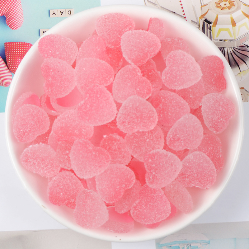 Happy Monkey 5pcs/10pcs/pack Slime Charms Toys Resin Love Candy Supplies Addition Filler For Fluffy Clear Cloud Slime DIY Crafts