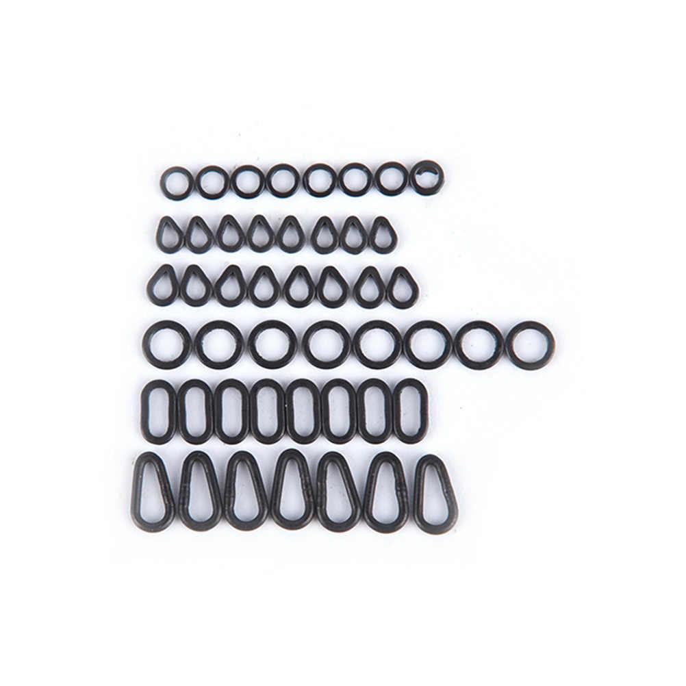 20 قطعة/الحزمة الكارب معالجة مات 6 الحجم أسود اللون مسطحة دمع قطرة تزوير خاتم اللؤلؤ شكل حلقات عائب محطة