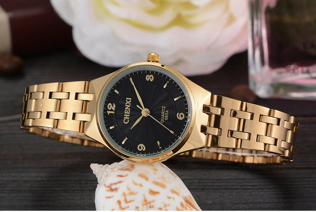 Luxury Brand CHENXI Gold Watches Women Full Stainless Steel Wristwatches Women Bracelet Watch Ladies WristWatch relogio feminino