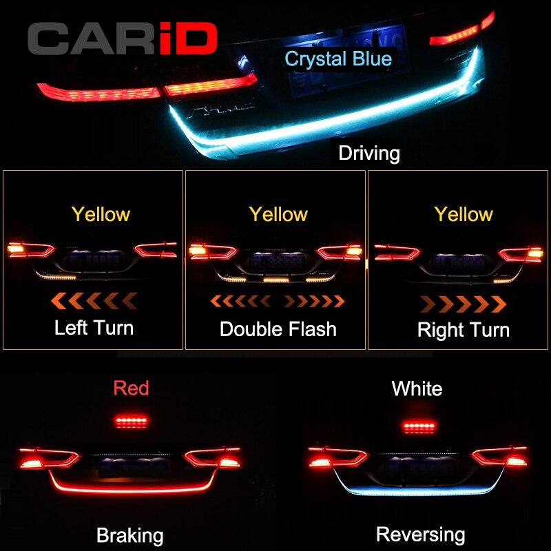 CARiD Tronc Bande de Lumière LED De Voiture Dynamique Streamer Feux Arrière Pour Opel Corsa Cabrio Astra Adam Corsa Van Zafira Mokka insignes