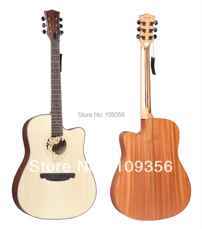 New design flower hole acoustic guitar in guitar from for Acoustic guitar decoration