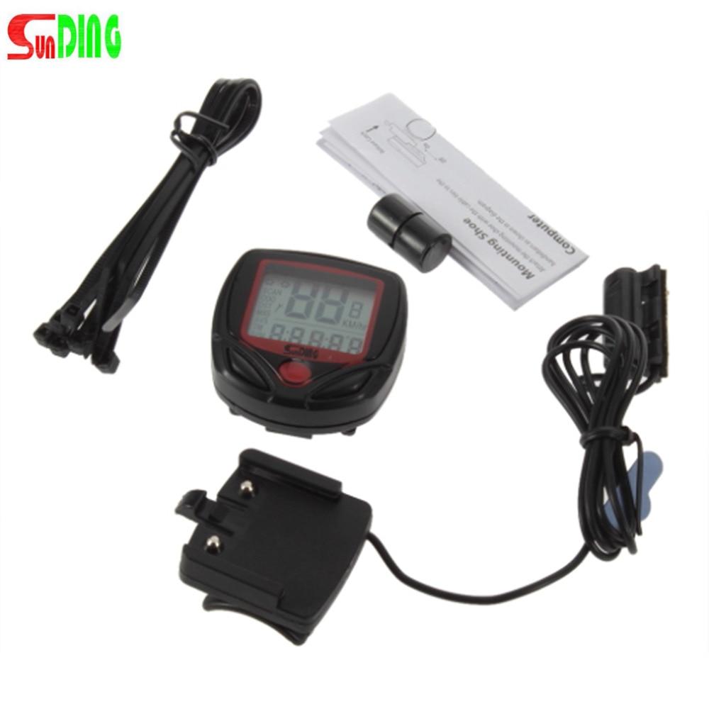 Sebességmérő kerékpármérő sebességmérő Digitális LCD kerékpár számítógép órája Stopperóra Hot Sale