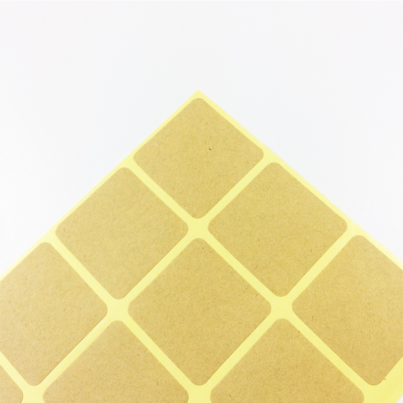 150 Pcs/lot New Square Design Kraft Blank Sealing Sticker For Handmade Products DIY Note Gift Self-adhesive Packaging Label