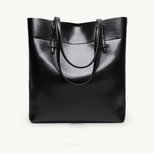 Wholesale 2016 new leather leisure female bag contracted fashion leather tote bags temperament woman single shoulder bag