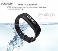 Fanmao Новый Smart пульсометр фитнес-трекер умный Браслет Touchpad спортивные часы браслет для iOS и Android