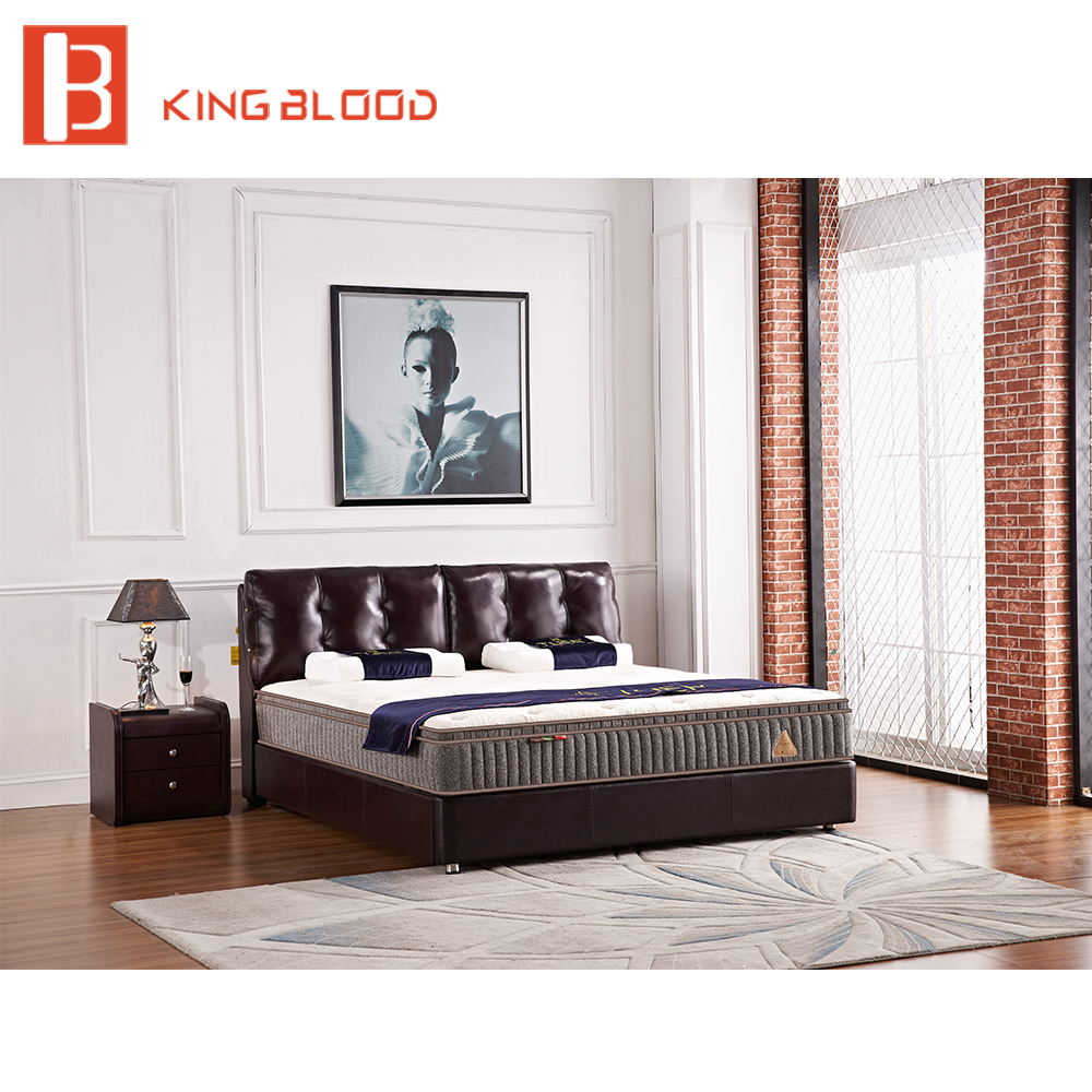 On sale best quality leather bed designs for bed room furniture
